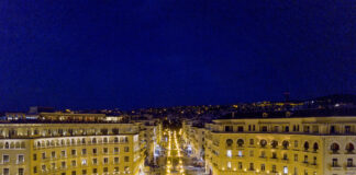 Thessaloniki-Aristotelous-Square-by-night